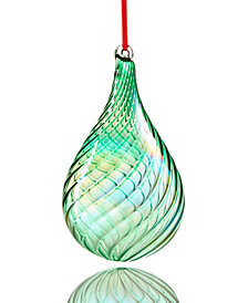 Holiday Lane Green Drop Ornament, Created for Macy's