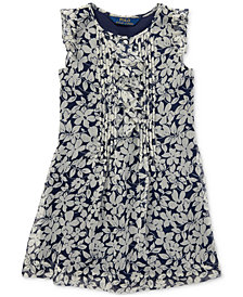 Polo Ralph Lauren Toddler Girls Ruffled Floral Chiffon Dress
