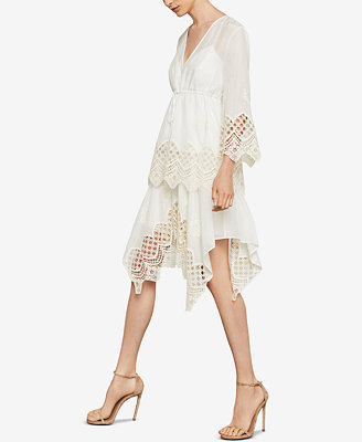 Embroidered Drawstring Top by Bcbgmaxazria