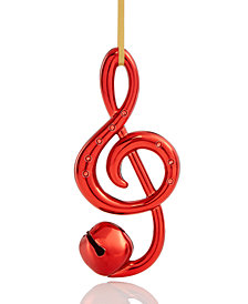 Holiday Lane Red Musical Notes Ornament, Created for Macy's