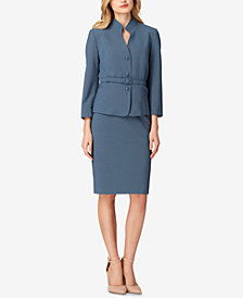 Tahari ASL Stand-Collar Skirt Suit