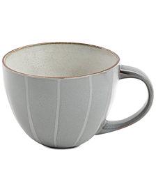 Gibson Elite Reactive Glaze Charcoal Striped Mug