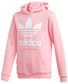 adidas Originals Big Girls  Trefoil Graphic-Print Hoodie