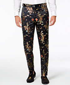 Tallia Orange Men's Midnight Dragon Slim-Fit Jacquard Suit Pants