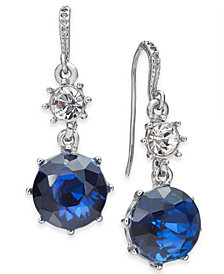 Charter Club Montana Crystal Drop Earrings in Imitation Rhodium, Created for Macy's