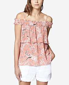 Sanctuary Malibu Tiered Cold-Shoulder Top