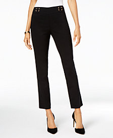 JM Collection Petite Lace-Up Pants, Created for Macy's