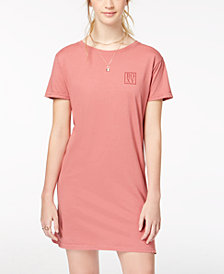 Roxy Juniors' Down the Line Cotton T-Shirt Dress