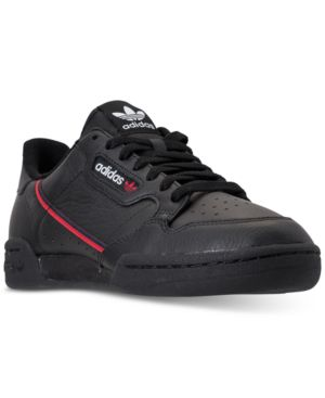 Adidas Men'S Originals Continental 80 Casual Sneakers From Finish Line, Core Black/Scarlet/Colleg
