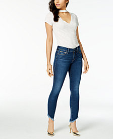 Joe's Jeans Asymmetrical Raw-Hem Jeans