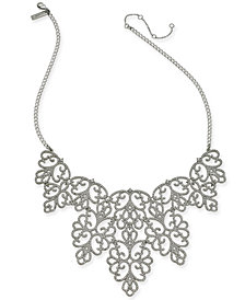 "I.N.C. Pavé Openwork Statement Necklace, 18"" + 3"" extender, Created for Macy's"