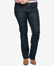 Silver Jeans Co. Plus Size Suki Stretch Slim Boot-Cut Jeans