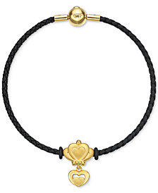 Chow Tai Fook Double Heart Braided Bracelet in 24k Gold