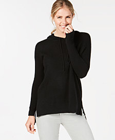Charter Club Pure Cashmere High-Low Hoodie in Regular & Petite Sizes, Created for Macy's