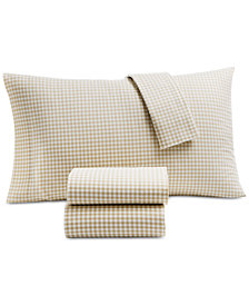 Martha Stewart Collection Printed Cotton Flannel 4-Pc. Queen Sheet Set, Created for Macy's