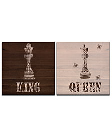 Ready2HangArt 'King & Queen' 2-Pc. Canvas Wall Decor Set