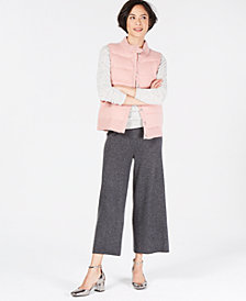 Charter Club Cashmere Turtleneck Sweater, Cashmere Puffer Vest & Cashmere Culottes, Created for Macy's