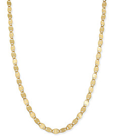 "Giani Bernini Twist Disc Link 18"" Chain Necklace in 18k Gold-Plated Sterling Silver Vermeil, Created for Macy's"