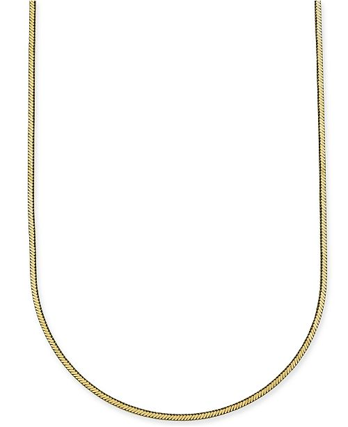 "Giani Bernini Square Snake Chain 30"" Necklace in 18k Gold-Plated Sterling Silver Vermeil, Created for Macy's"