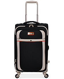 "Jessica Simpson Monterey 21"" Softside Expandable Carry-On Spinner Suitcase"