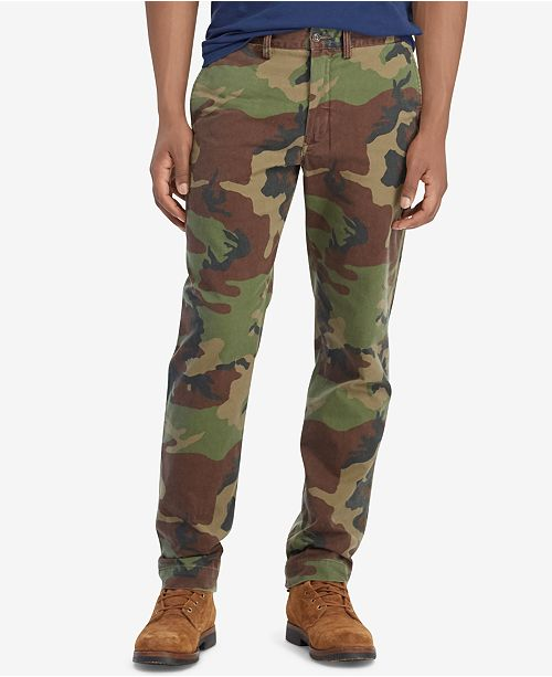 c01309cab ... Polo Ralph Lauren Men s Camouflage Classic Fit Cotton Chino Pants ...