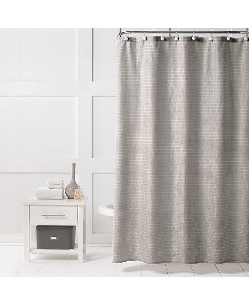 Saturday Knight Neutral Textured Stripe 70 X 72 Shower Curtain