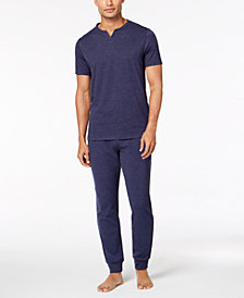Bar III Men's Heathered Pajama Set, Created for Macy's
