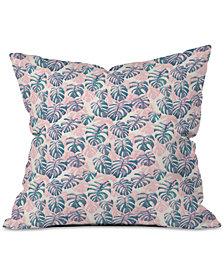 Deny Designs Dash & Ash Pinky Palms Throw Pillow