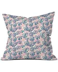 Deny Designs Dash & Ash Pinky Palms Throw Pillow