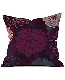Deny Designs Iveta Abolina Burgundy Rose Throw Pillow