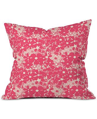 Deny Designs Joy Laforme Floral Rainforest In Coral Pink