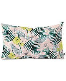 Deny Designs Marta Barragan Camarasa Tropical Leaf & Pineapple Oblong Throw Pillow