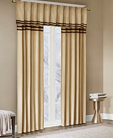 Dune Microsuede Stripe Window Panel Pair and Valance Collection