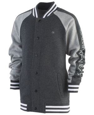 Calvin Klein Big Boys Divided Baseball Jacket