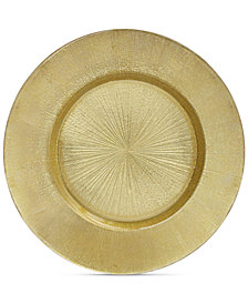Jay Imports American Atelier Light Gold Antique Glass Charger Plate