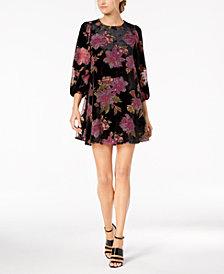 Calvin Klein Floral Burnout Velvet Shift Dress