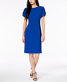 Calvin Klein Pee Puff Sleeve Sheath Dress
