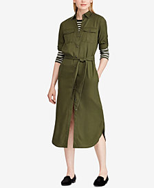Lauren Ralph Lauren Petite Twill Shirtdress