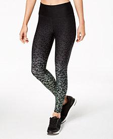 Calvin Klein Performance Ombré Lynx-Print High-Rise Cropped Leggings