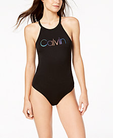 Calvin Klein Performance Keyhole-Back Bodysuit