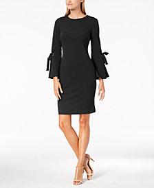 Calvin Klein Tie-Sleeve Sheath Dress