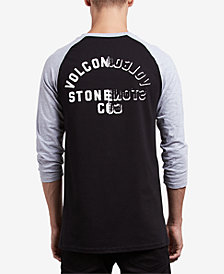 Volcom Men's War Shack Raglan 3/4 Sleeve T-Shirt