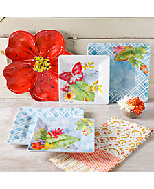 Laurie Gates Tropical Melamine Dinnerware Collection, First at Macy's