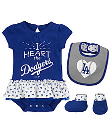 Outerstuff Los Angeles Dodgers Bib & Booty Set, Infant Girls (0-9 Months)