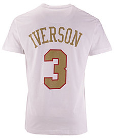 Mitchell & Ness Men's Allen Iverson Philadelphia 76ers Gold Collection Name and Number T-Shirt