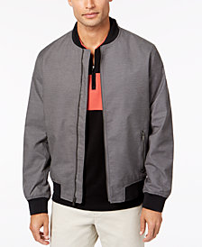 Alfani Men's Ribbed Fashion Bomber, Created for Macy's