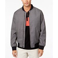 Deals on Alfani Mens Ribbed Bomber Jacket