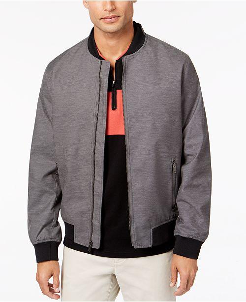 Alfani Men's Ribbed Bomber Jacket, Created for Macy's