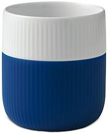 Mega Blue Fluted Contrast Mug