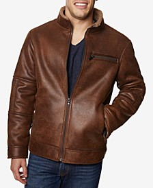Men's Big & Tall Faux-Leather Jacket